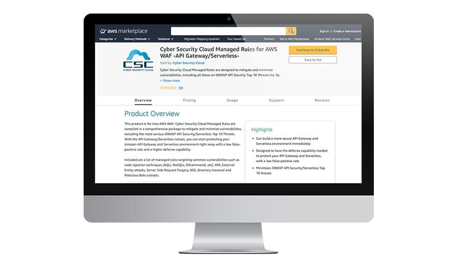 AWS WAF Managed Rules API Gateway Serverless